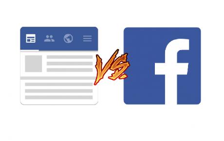 Swipe for facebook vs facebook