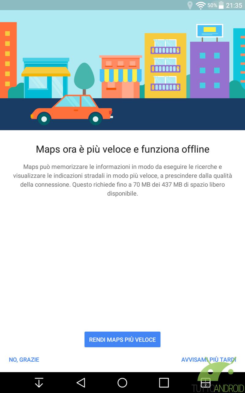 come usare google maps offline, anche come navigatore, su android