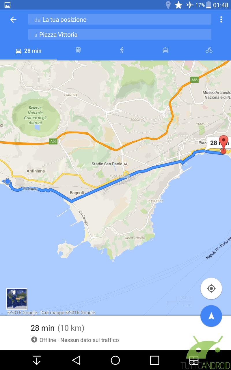 come usare maps offline anche come navigatore su android