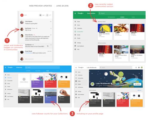 Google+ web preview giugno