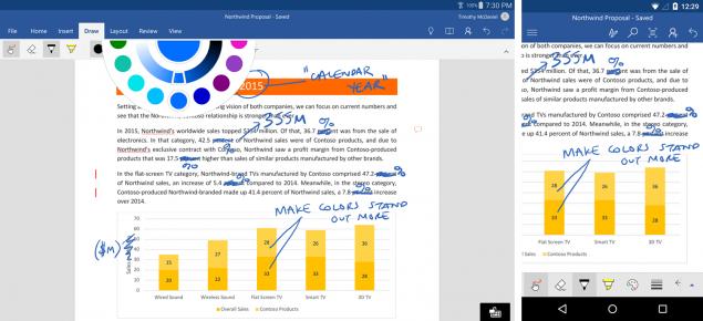 Microsoft Word scrittura sui documenti