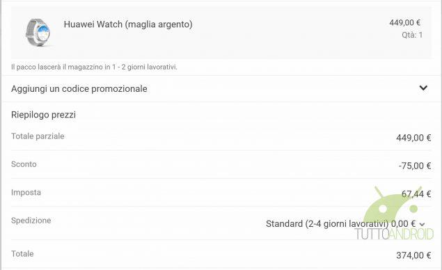 Huawei Watch sconto