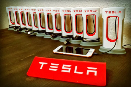 Tesla my supercharger