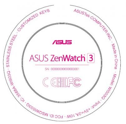 ASUS ZenWatch 3 FCC