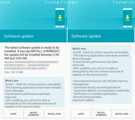 Galaxy S6-S6 edge patch agosto