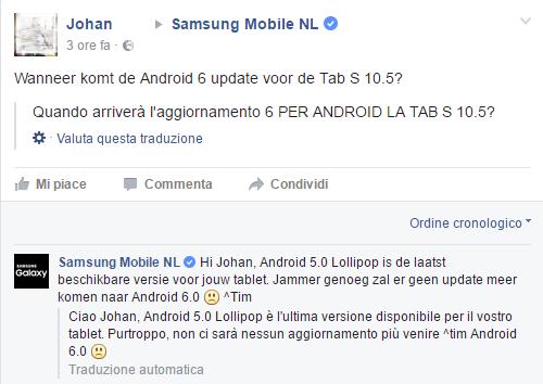 Samsung Galaxy Tab S facebook NL