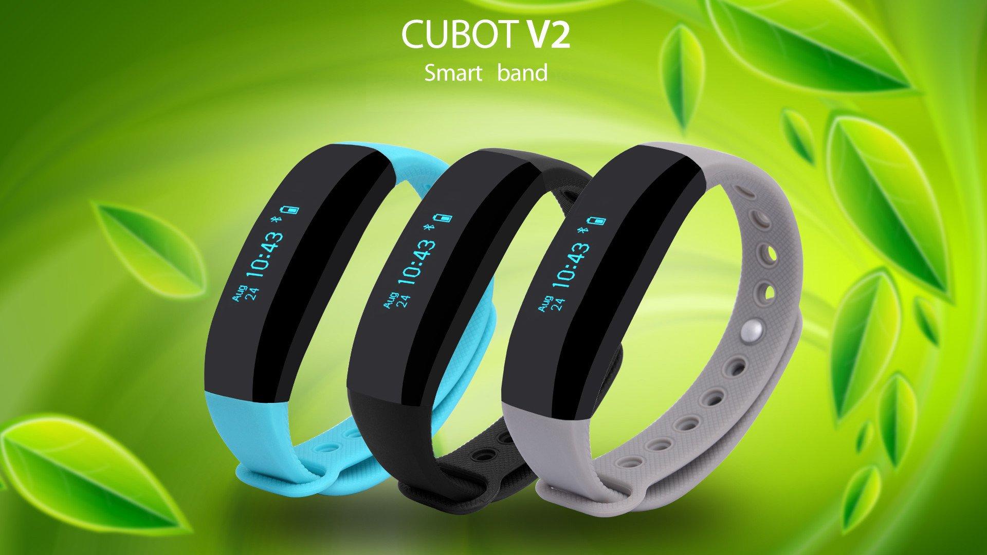 CUBOT presenta CUBOT V2, la nuova smartband con misuratore del battito cardiaco