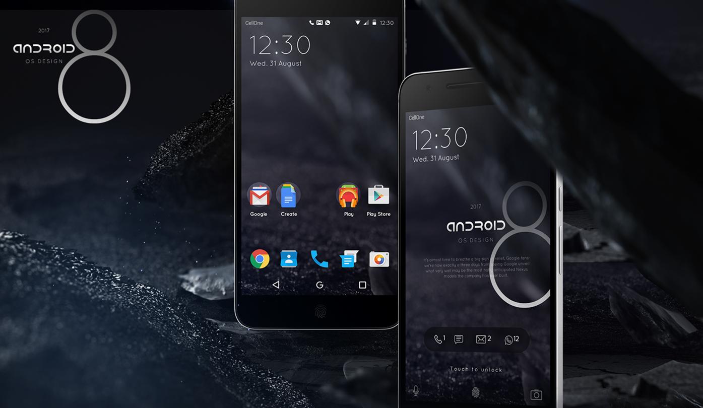 Android 8 immaginato in un interessante concept (foto e video)