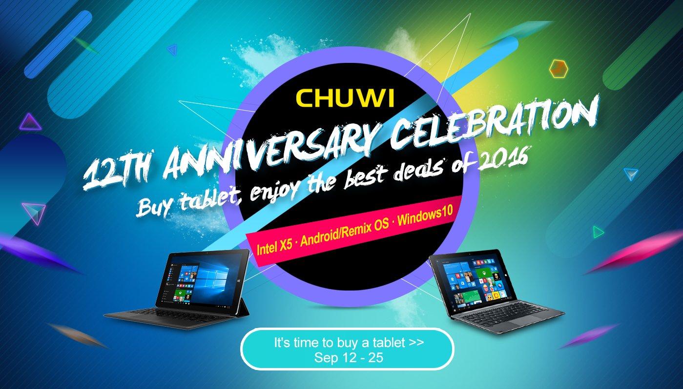 Chuwi festeggia i 12 anni di attività con numerosi sconti