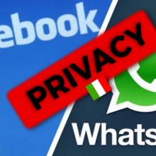 facebook whatsapp privacy italia