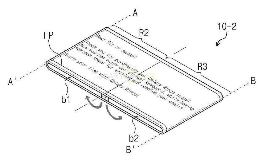 """Samsung """"Galaxy Wings"""": nuovi brevetti per un dispositivo piegabile secondo le esigenze"""