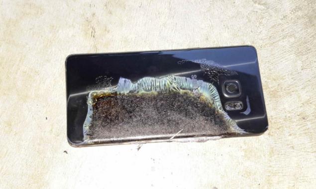 Samsung Galaxy Note 7 batteria esplosa