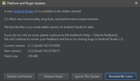 Android studio 2.2