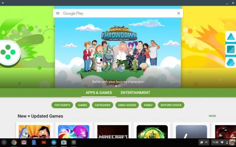 Chrome os google play store