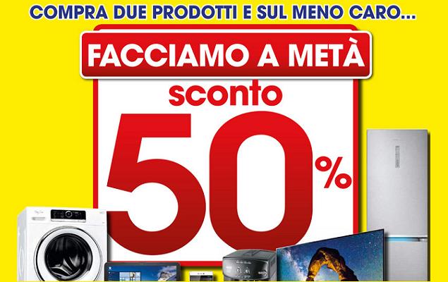 """Euronics (Galimberti) rilancia la promozione """"Facciamo a metà"""": sconto del 50% sul secondo prodotto meno caro"""