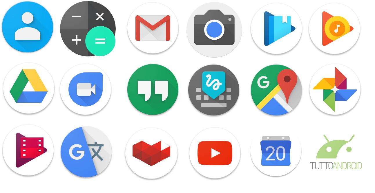 Android 7.1, Pixel Launcher e le nuove icone circolari di Google (Teardown APK)