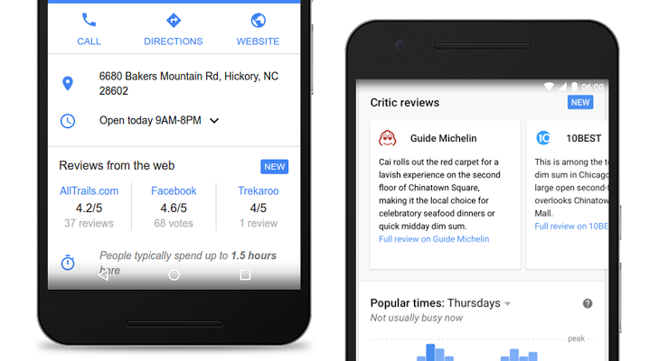 Google arricchisce le recensioni inserendo quelle di siti esterni e di esperti del settore