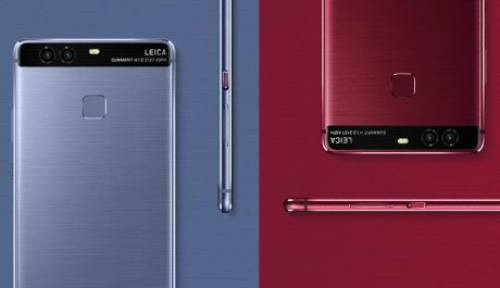 Huawei p9 rot und blau 1