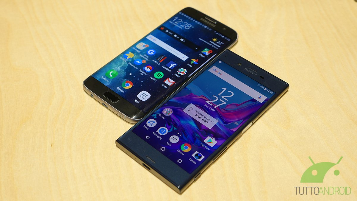 Sony Xperia XZ vs Galaxy S7 Edge: video confronto da IFA 2016