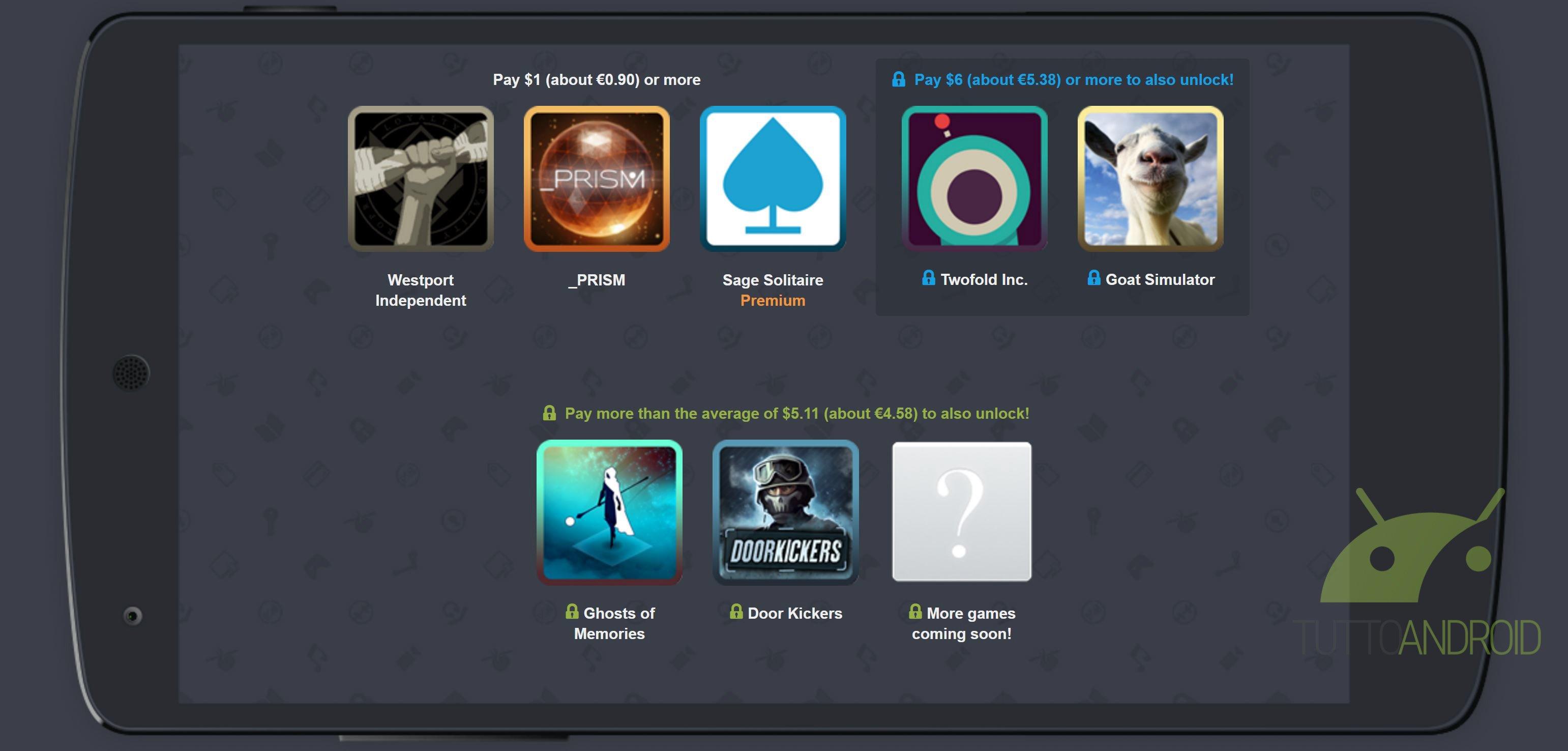 Humble Mobile Bundle 21 offre Goat Simulator, _PRISM e tanto altro