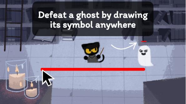 Google Halloween, il doodle è un gioco di fantasmi