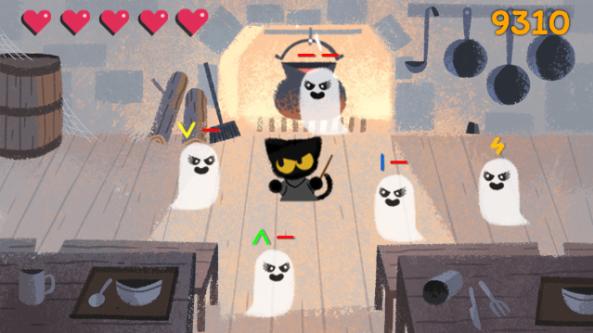 Google celebra Halloween con uno speciale doodle