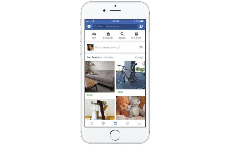 Facebook lancia Marketplace, la nuova piattaforma dove fare acquisti online, ma non in Italia