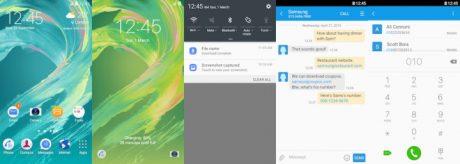 Samsung Galaxy Theme Xperia UI Theme 720x256