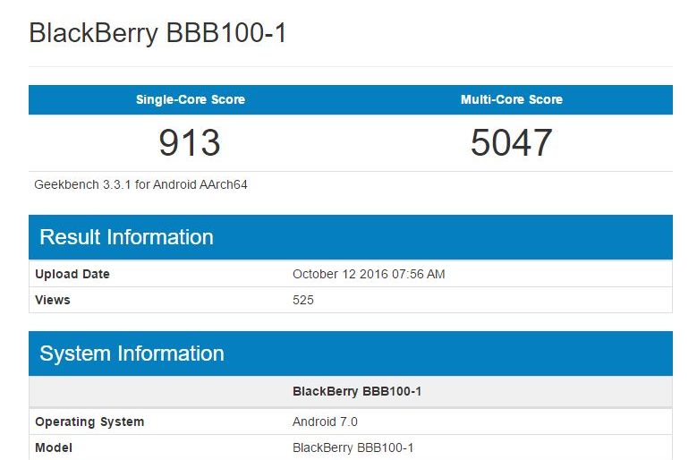 BlackBerry Mercury, le presunte specifiche