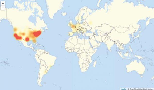 I giganti del web bloccati per due ore