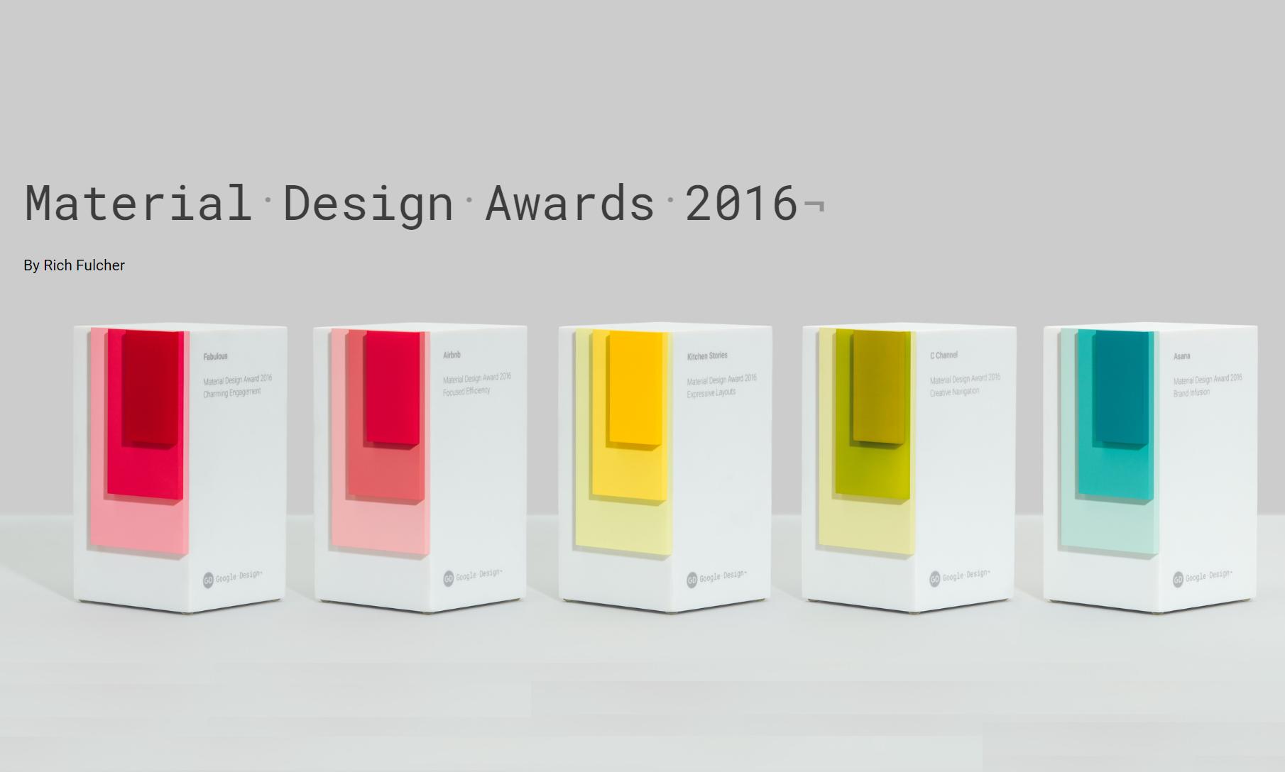 Google annuncia le 5 migliori app per Material Design