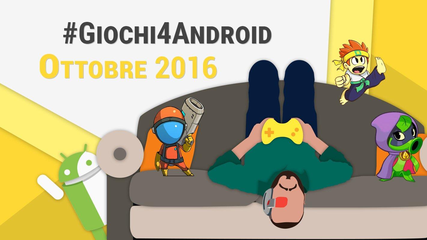 I migliori giochi android di ottobre 2016 video tuttoandroid - Rubrica android colori diversi ...
