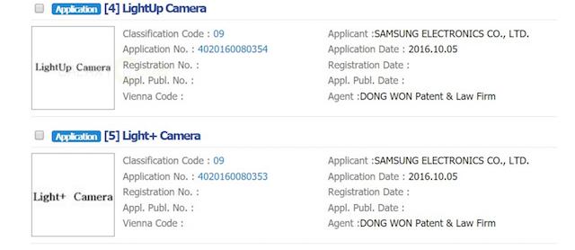 Samsung chiede la registrazione del marchio LightUp Camera in Corea