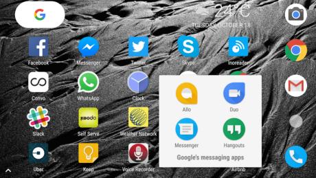 Google pixel messaging apps