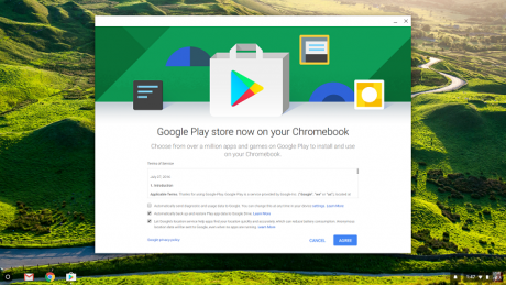Acer Chromebook R13 Play Store access