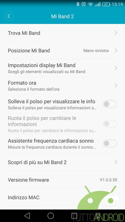 xiaomi mi band 2 un update firmware risolve il bug del