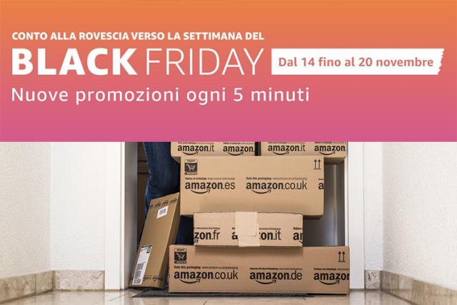 Amazon Black Friday Promozioni ogni 5 minuti
