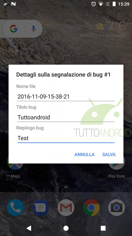 Android Nougat segnalazione bug 2