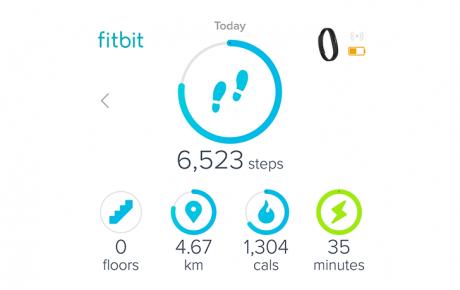 Fitbit interfaccia