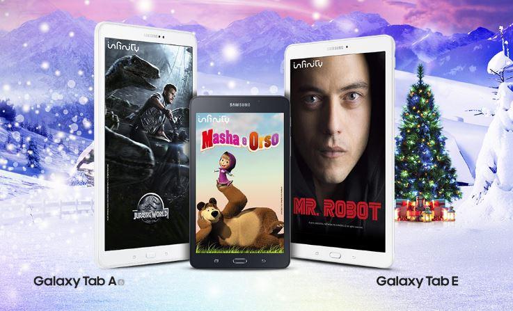 Samsung regala un anno di Infinity agli acquirenti di Galaxy Tab A 2016 e Galaxy Tab E