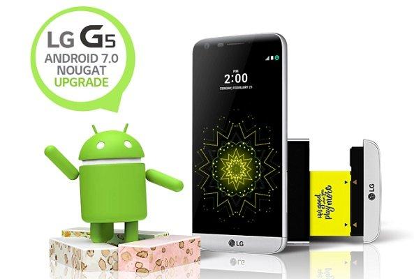 L'aggiornamento Android 7.0 Nougat sbarca nell'LG G5