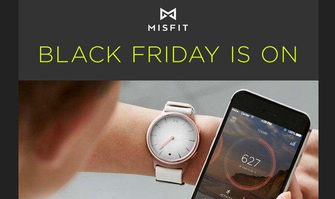 Il Black Friday di Misfit dura fino a lunedì 28 novembre con sconti sui fitness tracker