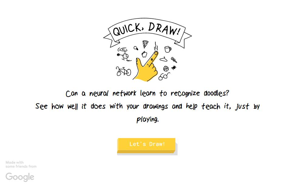 Quick Draw usa le reti neurali di Google per riconoscere i nostri disegni