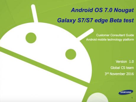 Samsung Galaxy S7 guida nougat