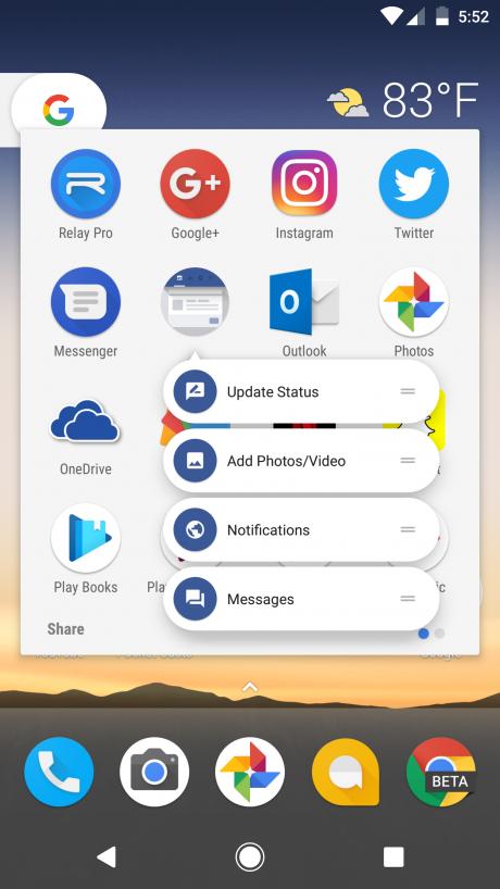 Swipe for Facebook launcher shortcuts2
