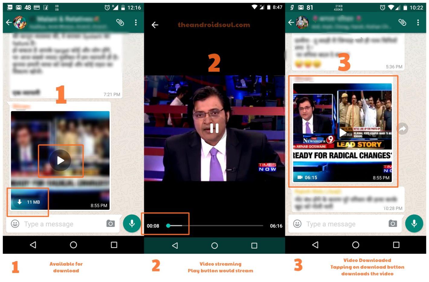 Whatsapp, ora è possibile guardare i video ricevuti senza doverli scaricare