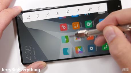 Xiaomi Mi Mix scratch bend test
