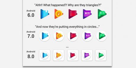 Evolution google app icons 1