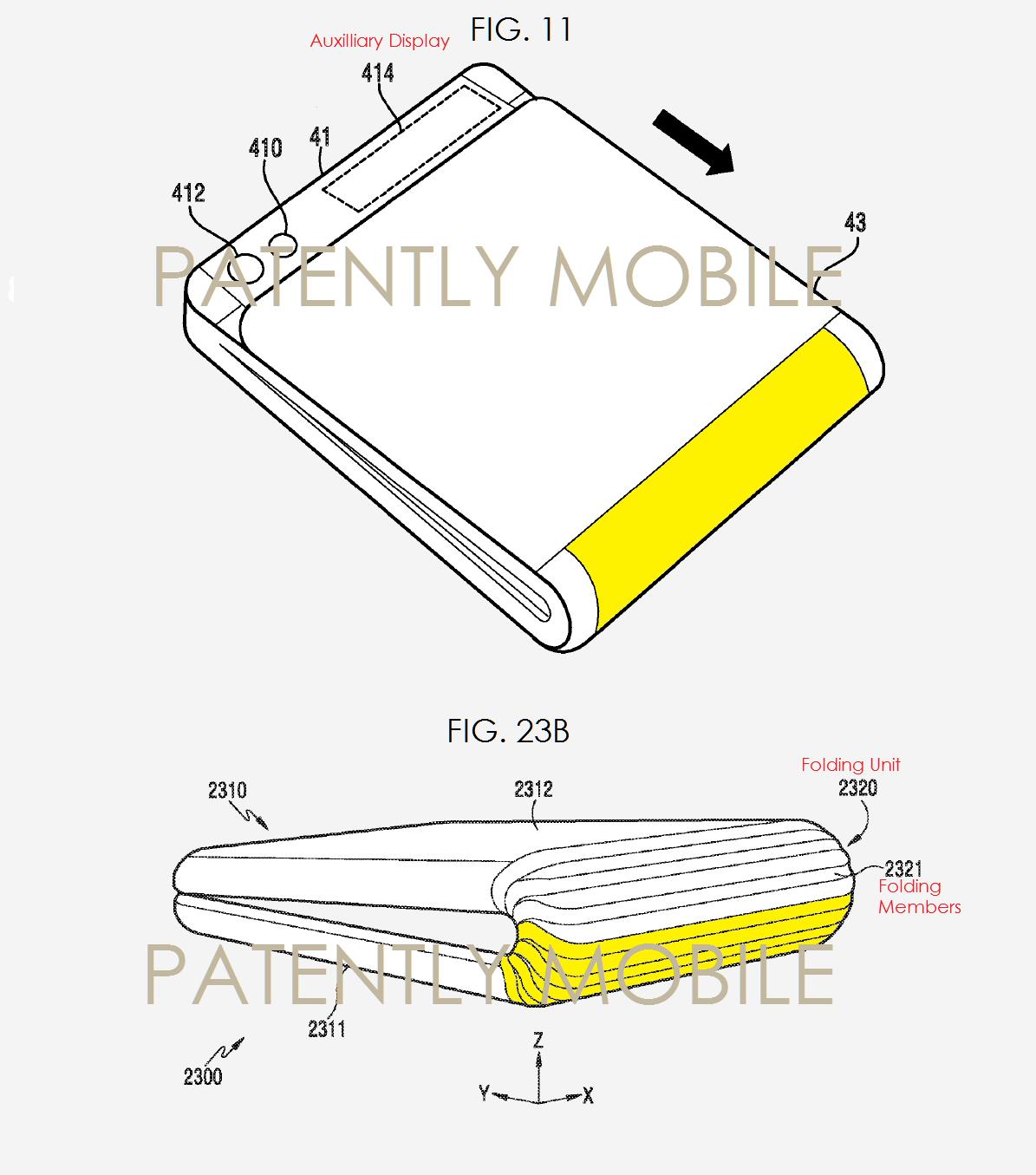 Samsung brevetta il telefono pieghevole