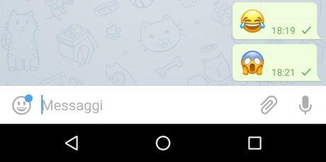 Telegram emoticons